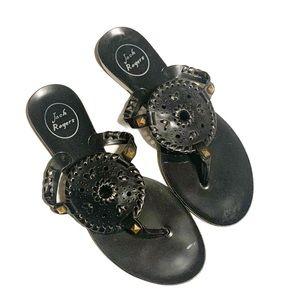 Jack Rogers Georgica Jelly Flip Flop sandals Black